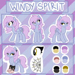 Windy Spirit Reference Sheet + SPEEDPAINT