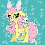 [COMMISSION] Fluttershy and Angel Bunny + SP