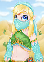 Gerudo Link - The Breath of the Wild by partylikeanartist