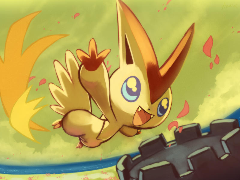 5thGen Pokemon of the Day Coundown to BW!  Victini_by_aonik-d2zoohz