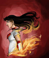 Sailor Mars on Fire by SjaznaGoesUni
