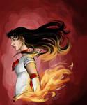 Sailor Mars on Fire