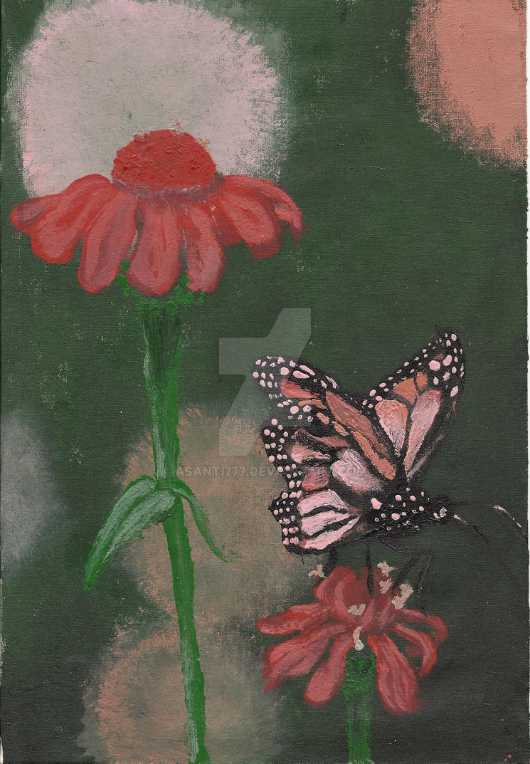 Flowers and butterfly by ASanti777