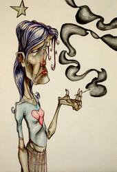 girl smoking by lorenzobam