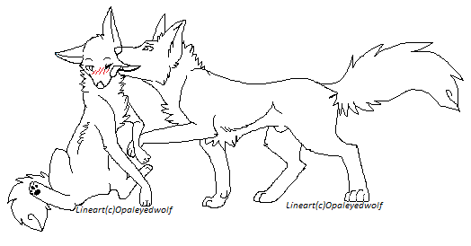 wolf couple lineart2 by protosykelegacy - Anime Wolf Couples Coloring Pages