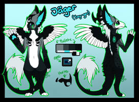 Jager (yay-ger) [Dutch Angel Dragon] [Ref-Sheet] by ProtoSykeLegacy