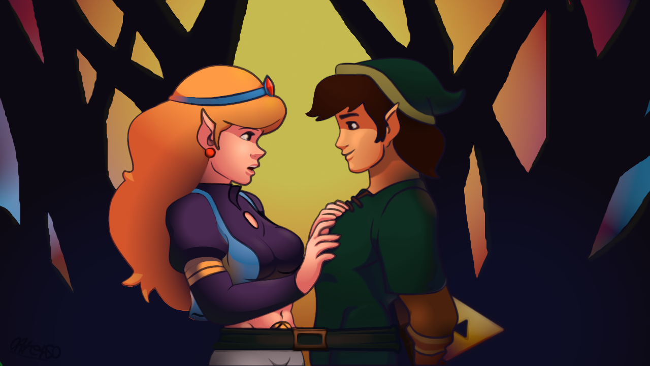 Zelda and Link Cartoon version