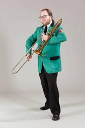 Trombone Guy by mprangenberg