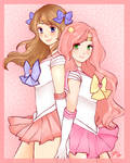 Sailor Ashley and Natasha by creampuffchan