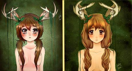 Deer Girl 2014-2018 Progress by creampuffchan