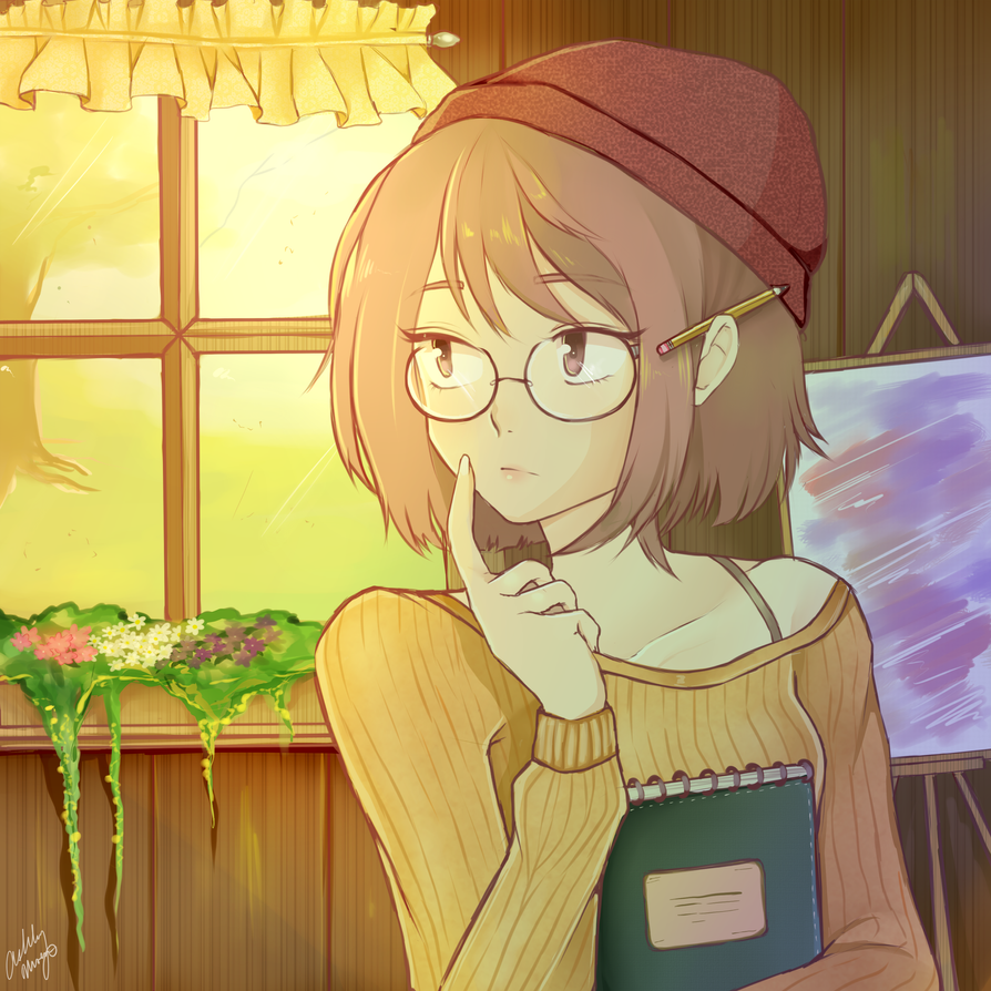 The artist by creampuffchan