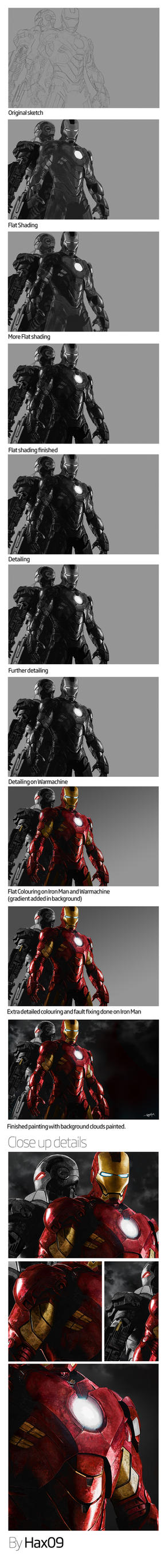 Iron Man and WarMachine WIP by Hax09