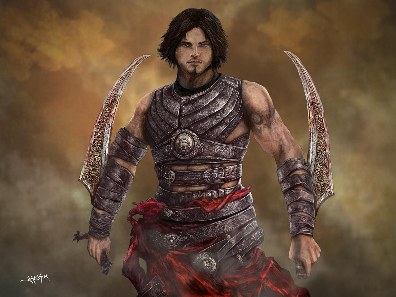 The Prince of Persia Digital Painting by Hax09