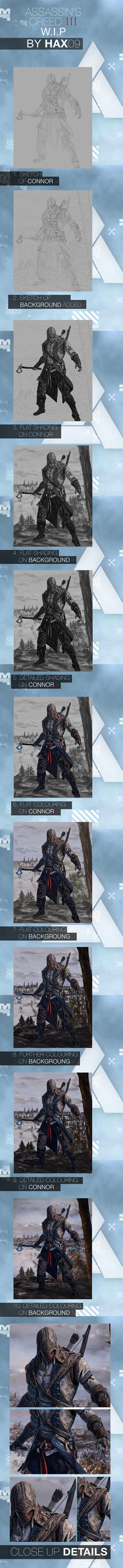 Assassin's Creed 3 Connor Digital Painting W.I.P by Hax09