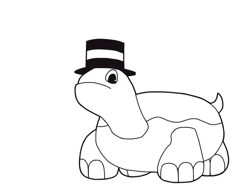 Line Art Turtle : Donut turtle lines by chibichobit on deviantart