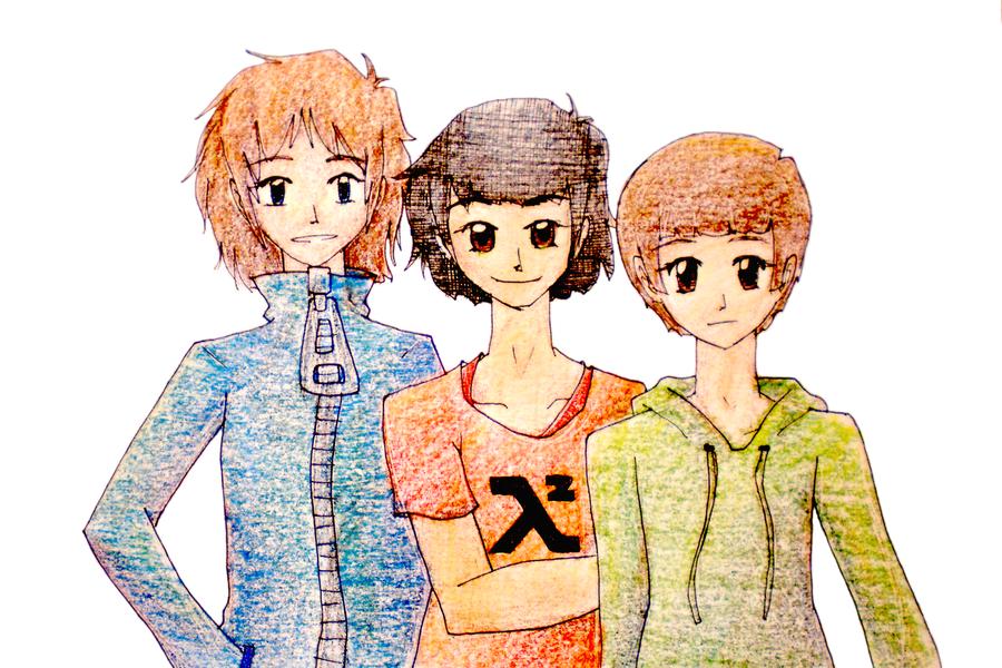 Damon, Brandon and Caleb by chibichobit