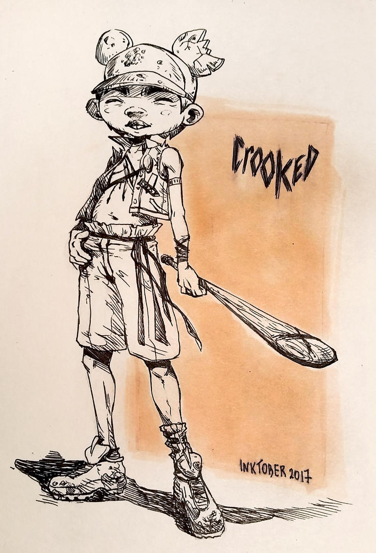 Inktober 2017 - Crooked by Yanosik