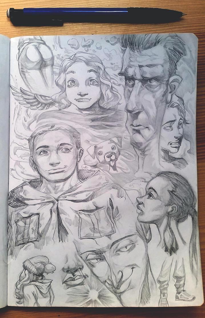 Sketchbook page by Yanosik