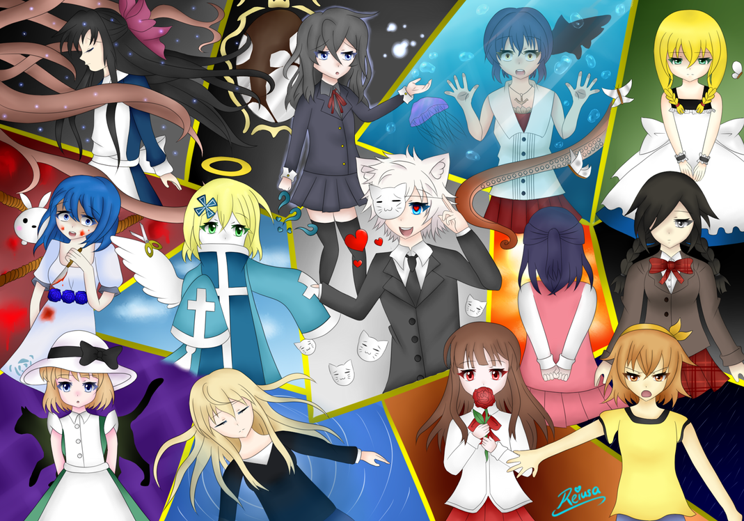 The anime man horror games collage by reiusa on deviantart