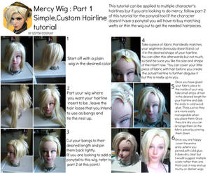 Mercy Wig Tutorial: Custom hairline