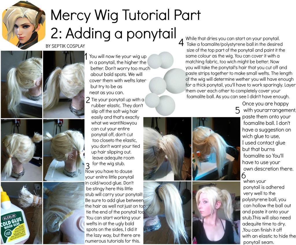 Mercy Wig Tutorial: Adding a ponytail