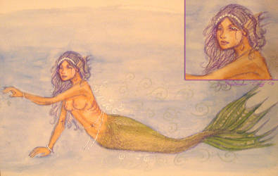 Doodle Mermaid Watercolor