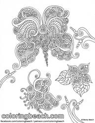 Printable Butterflies Coloring Sheet
