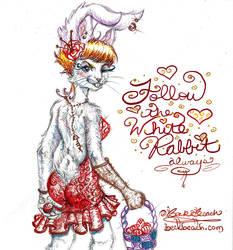 Follow The White Rabbit ( Furry Babe Pin Ups )