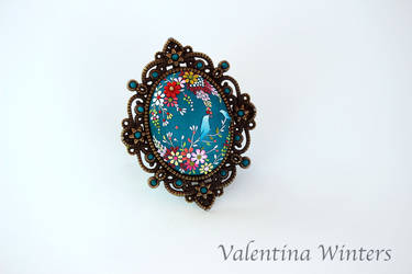 Sculpted Polymer Clay jewelry by WVal