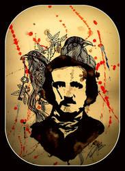Edgar Allan Poe by MarchCoven