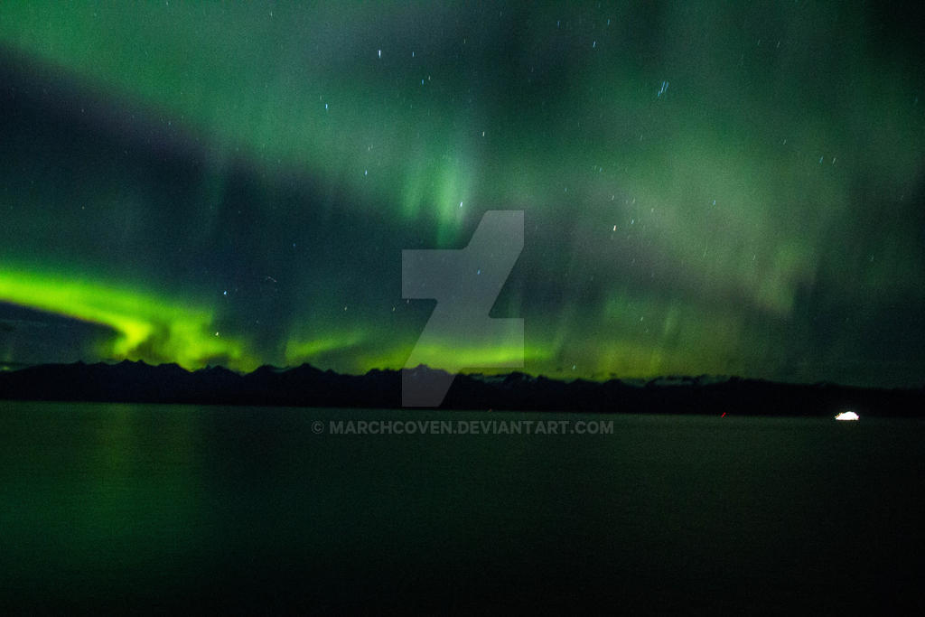 Northern lights Alaska  2 by MarchCoven