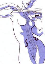 White Violin-Umbrella Academy by paco608