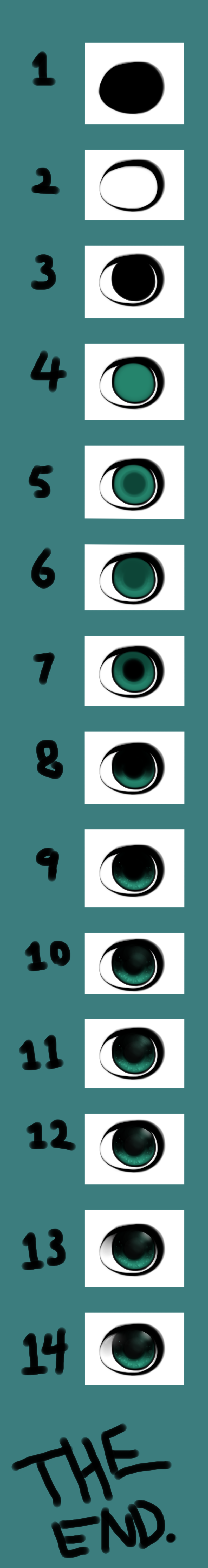 Basic Eye step by step by DiniZee