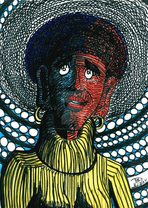 Portrait Of Betty Jackson by Brennessel64