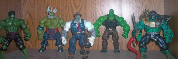 Variations of The Hulk by Lexbubble23