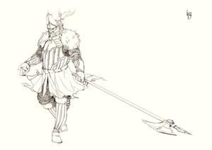 Knight003 Lineart