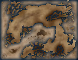 The Map of Ralindor - No Names by Entaryon