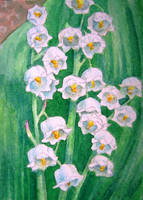 Lily of the Valley, ATC by waughtercolors