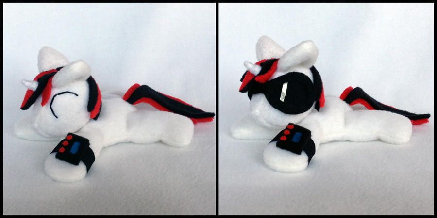 Blackjack beanie plush with sunglasses by Bewareofkitty