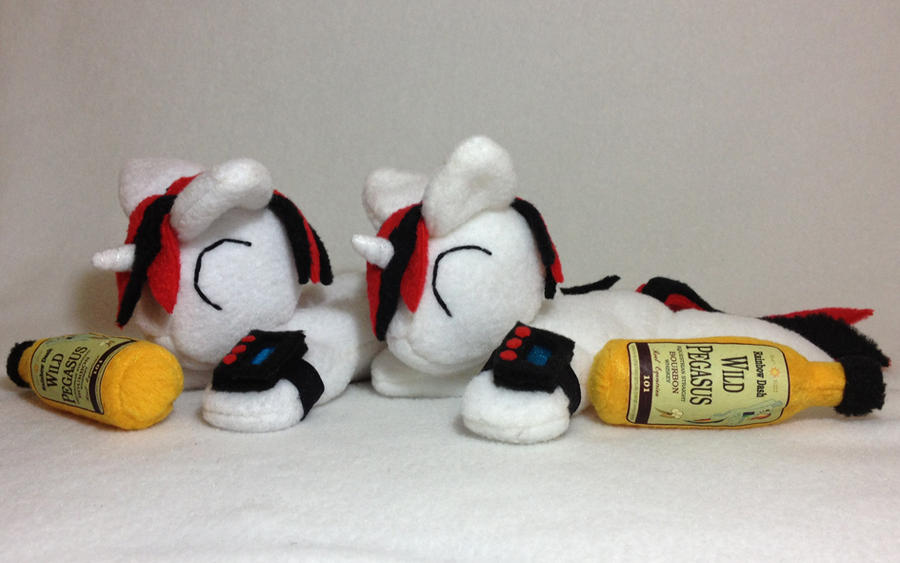 Blackjack beanie plushies by Bewareofkitty