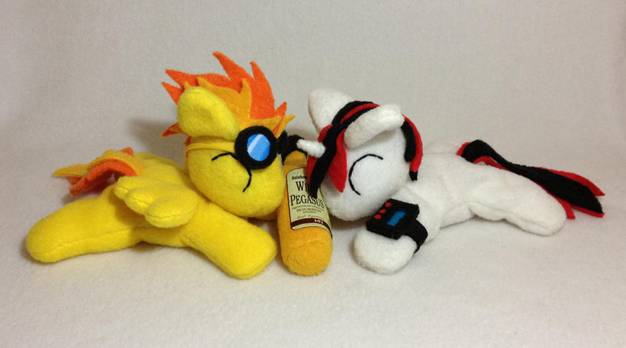 Spitfire and Blackjack beanie plushies by Bewareofkitty