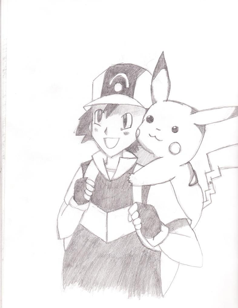 Ash Ketchum and Pikachu by FirePokemonFan