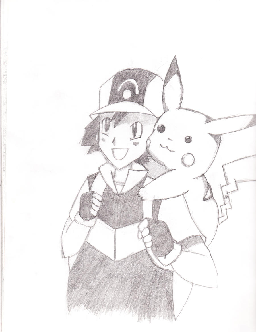 Ash Ketchum and Pikachu by FirePokemonFan