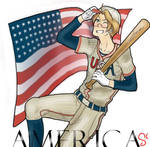 An American pastime: Alfred F. Jones by IclaimThisname