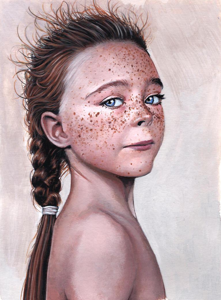 Freckled child by Raakhuga