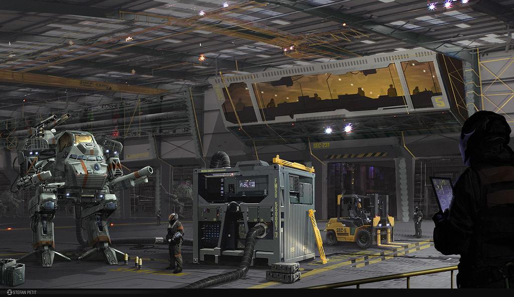 Mech Hangar by Spetit05