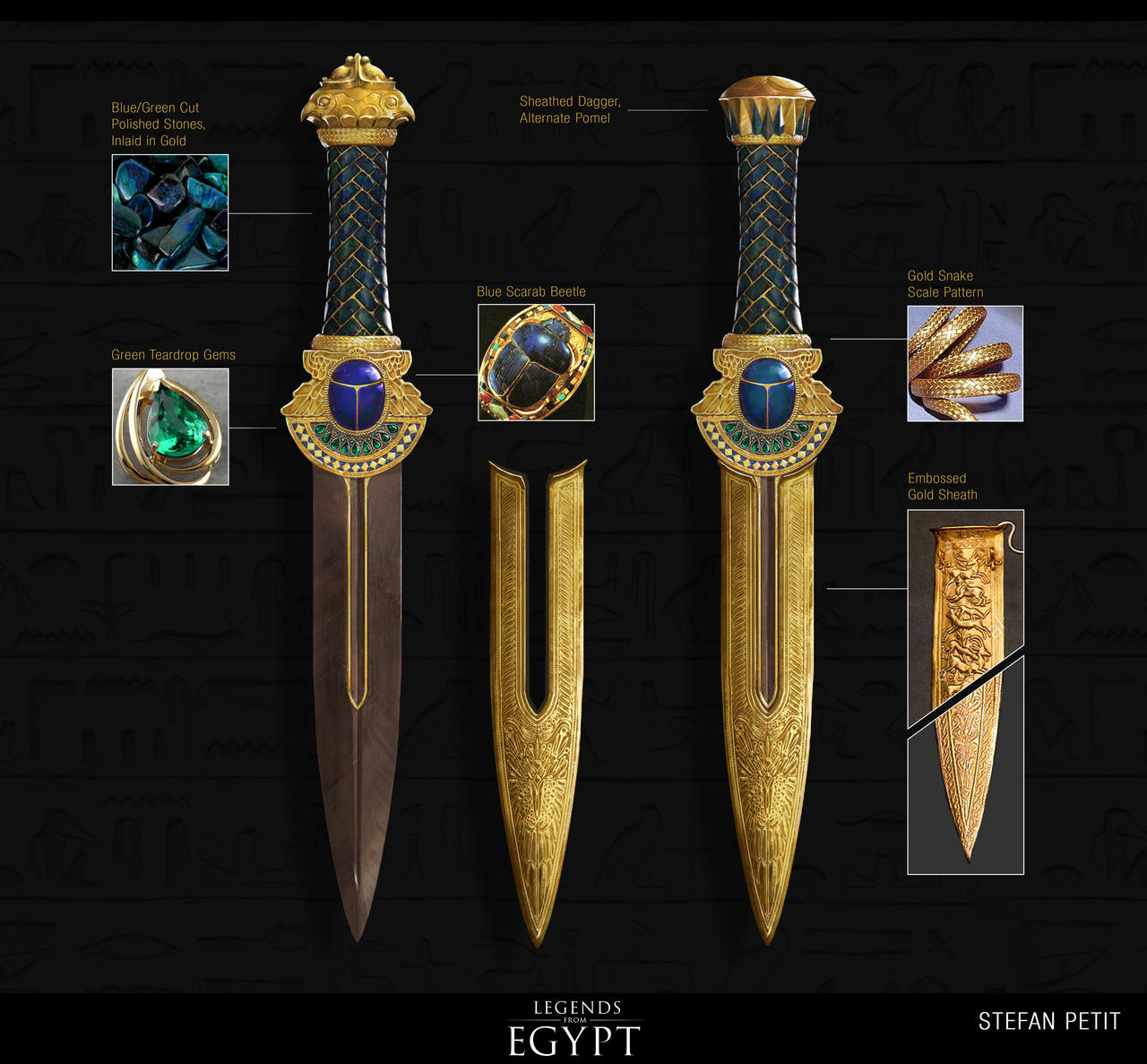 Egyptian Hero Dagger