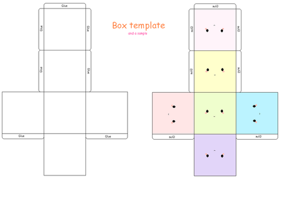Boxie template by strawberry crepe on deviantart for Cute papercraft templates