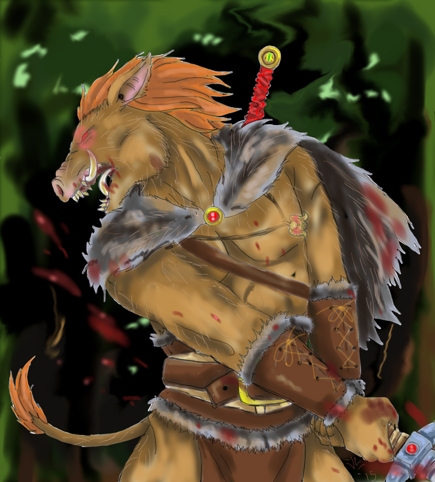 Dave the Boarbarian by BayushiJackal