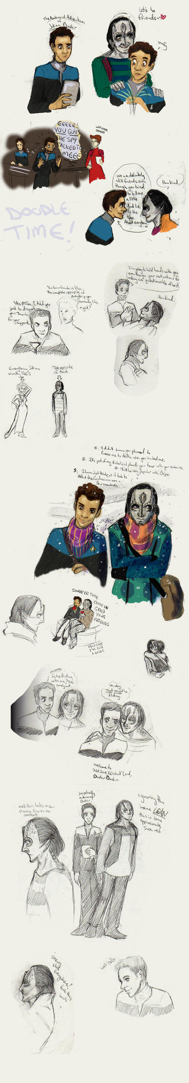 garak and bashir sketchbook adventures by ladyyatexel